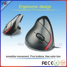 New design human engineering big wireless vertical mouse for desktop computer