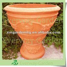 Large Terracotta Flower Planter For Street Decoration