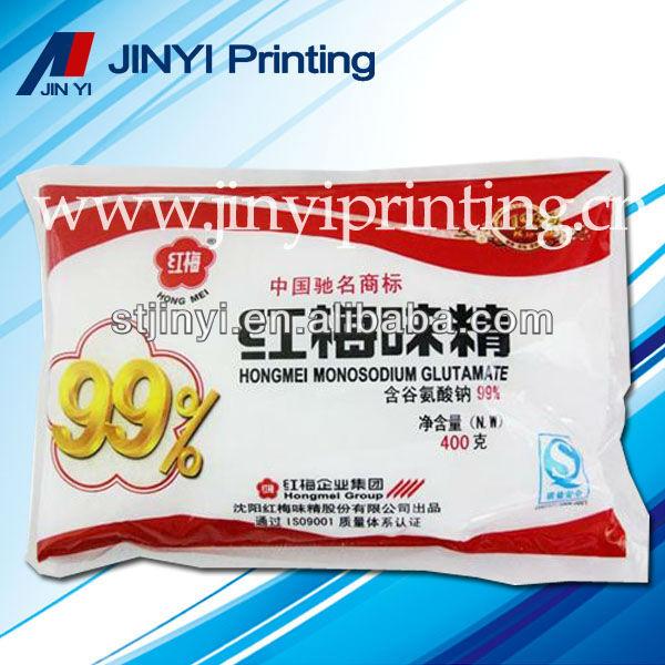 Plástico de embalagens de alimentos sacos de impressão para condimentos