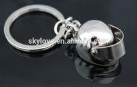 3D Car Motorcycle Motor Bicycle Helmet Key Chain Ring Keychain