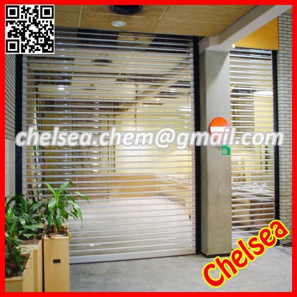 polycarbonate transparent roller shutter door,transparent roller shutter door,polycarbonate roller door