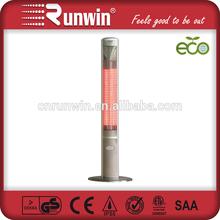 Energy Efficiency 2.4KW Electric Portable Patio Heater with Telescopic Poles