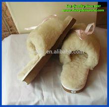 popular sheepskin indoor slipper women