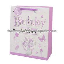 birthday print pattern shopping paper bags