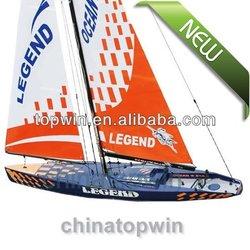 LEGEND Sailboat RTR EP rc boats electric Radio Control Hobby(Pre-printed fibreglass hull)