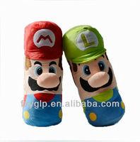 Super Mario Bros Brother plush pillow toys, soft cartoon tube cushion