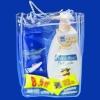 #B5033 PVC bag with handle for shampoo set
