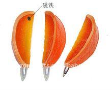 Orange Shape Fridge Magnets Ball Pens