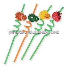 PVC Pet Drinking Straws Funny Curly Cartoon Crazy Shape