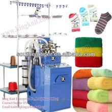 Full computerized plain and terry sock knitting machine