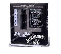 custom wholesale high quality premium casino deluxe cheap gambling mini square Jack daniels poker chips set with logo in pla box