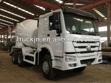 concrete mixer truck 3axles/Sinotruck howo 3axles Mixer Truck White 6cm3