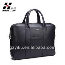 black classic 15 inch men's genuine leather laptop bags wholesale