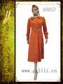Novo design bonito arábica vestido kaftan para as mulheres( a8057)