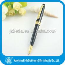 2014 de regalo promocional de la marca nombre famoso bolígrafo de metal pluma
