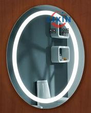 digital oval bathroom mirror with light