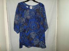 half sleeve ladies digital printed tops and blouses T601482