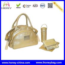 Large Capacity Traveler Quilted Carryall Shoulder Diaper Bag