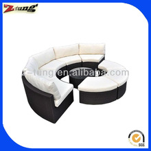ZT-3043S section round black clearance rattan sofa