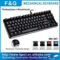 Tenkeyless aluminum mechanical keyboard with MX switch