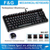Tenkeyless aluminum mechanical keyboard with MX switch