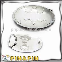 high quality blank silver nickel oval durable metal belt buckle