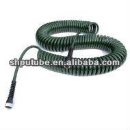 50-Foot x 3/8-Inch Polyurethane Lead Safe Coil Garden Hose - Olive Green