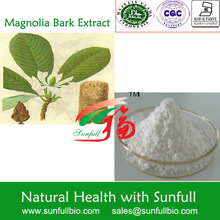 Magnolia Bark Extract 50% ~ 98% Total Honokiol & Magnolol