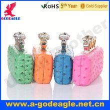 Custom fashion skull square clutch purse frame U0008-015