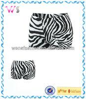 Women Zebra Safari Compression Shorts