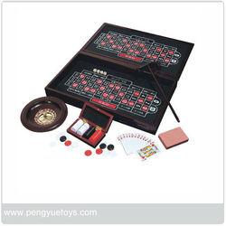 wooden gambling chip set game PY5077