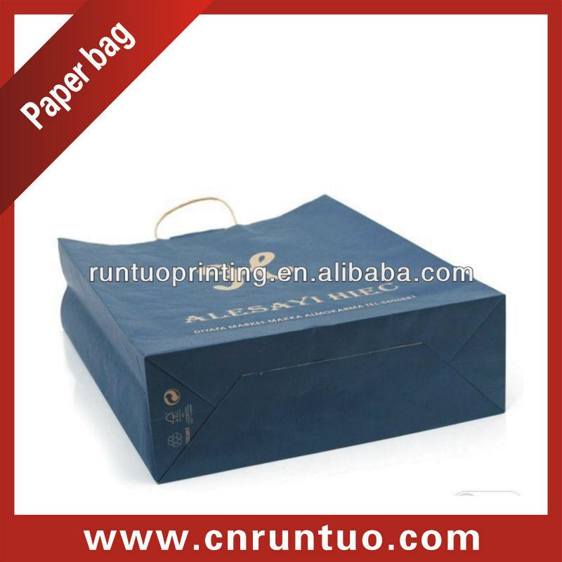 OEM Production Luxury Brown Kraft Paper Bag