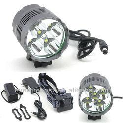 CREE T6 6000 lumen 8800mah motorcycle/dirt bike led light import from china
