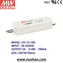 MeanWell 35w 700ma switching power supply/35W Single Output Switching Power Supply/led driver