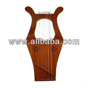 Kinnor harpa / Mini harpa / harpa do bebê / Rosewood harpa 10 cordas