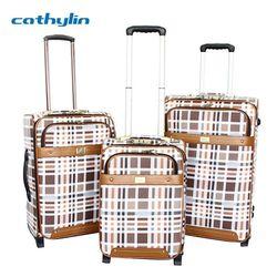 Trolley PU leather luggage case luggage combination padlocks