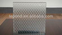 38.76mm non-transparent glass for public place/non slip glass