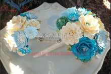 2013 cute handmade paper flower used wedding decorations for sale