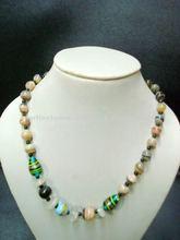 Banded onyx gemstone necklace