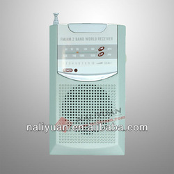 Pocket rechargeable radio battery with AM/FM radio rechargeable battery with usb