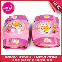 Pink printed knee pad for children roller skating