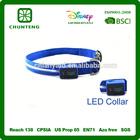 Custom glowing led dog collar