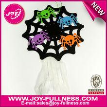 DIY black spider net halloween decoration