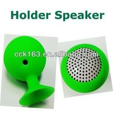 Speaker for mp3,3.5mm Mini Silicon Suction Cup Speaker Portable Ball Shape Stand Holder Loudspeaker For Cell Phone