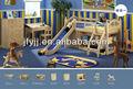دور علوي سرير الاطفال وظيفية سرير خشب الصنوبر الصلبة( نموذج: ms116)