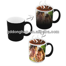 Factory direct advertising door gift novelty products eco friendly wholesale porcelain hot water color changing mug