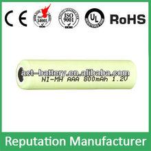 rechargeable 1.2v nimh battery aaa 800mAh /aaa nimh battery rechargeable