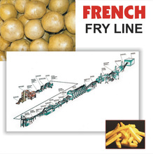 FROZEN FRENCH FRIES PRODUCTION LINE FROZEN FRENCH FRIES MACHINERY PRODUCTION CAPACITY 300 KG PER HOUR
