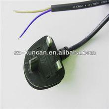 standard 250V fused C13/C5/C7 13 amp uk caravan adaptor lead to 16a hook up cabl szKUNCAN 3-6ft,black,white