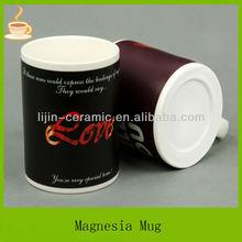 color changing ceramic mug for present/magic mug